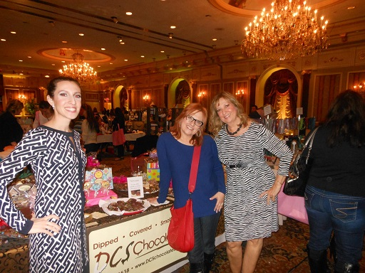 Tanya Quirk (Co-owner of DCS Chocolates) Caroline Manzo (RHONJ) Pam Messina (Co-owner of DCS Chocolates)