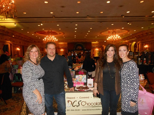 Pam Messina (Co-owner of DCS Chocolates) Chris and Jacqueline Laurita (RHONJ) Tanya Quirk (Co-owner of DCS Chocolates)