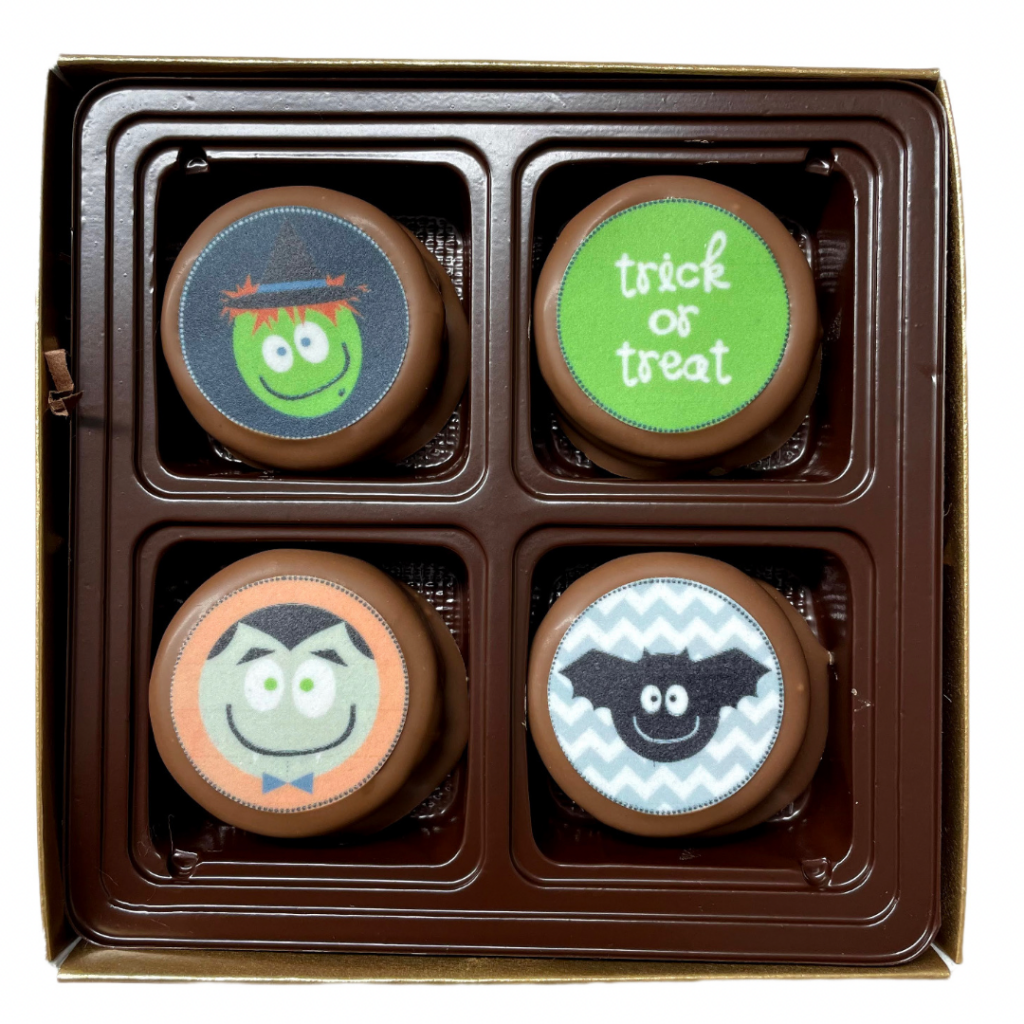 Chocolate covered oreos with edible images